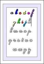 Coloriage Alphabet Cursive.Alphabets A Colorier Fiches D Activites Maternelles